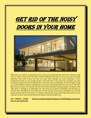 Get rid of the noisy doors in your home