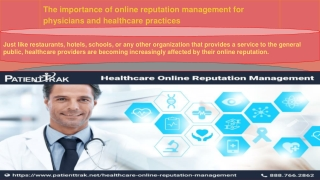 What Is Physician Online Reputation Management