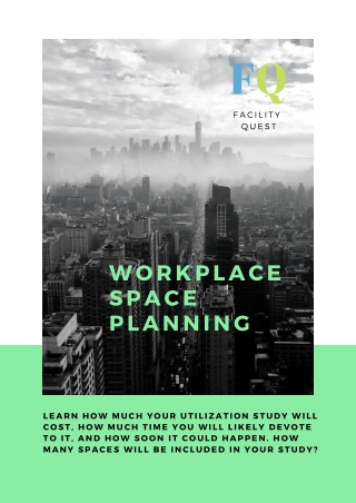 Workplace space planning with Facility quest