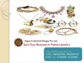 Start your business in fashion jewelry store