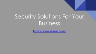Security Solutions For Your Business