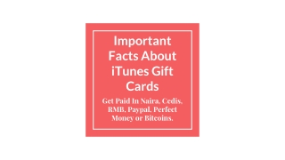 Important Facts About iTunes Gift Cards