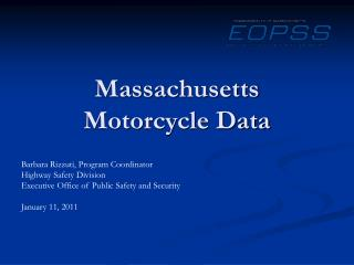 Massachusetts Motorcycle Data