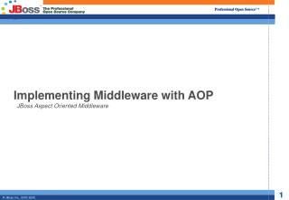 Implementing Middleware with AOP