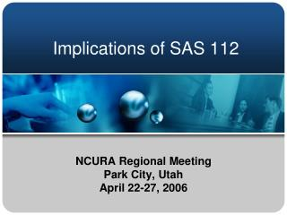 Implications of SAS 112