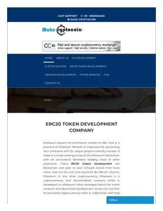ERC20 Token Development - Ethereum token developer   Makecryptocoin