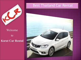Best Thailand Car Rental