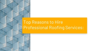 Professional Roof Installation Morristown NJ