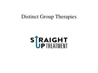 Distinct Group Therapies