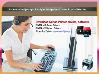 Canon.com/ijsetup - Ready to Setup your Canon Pixma Printers