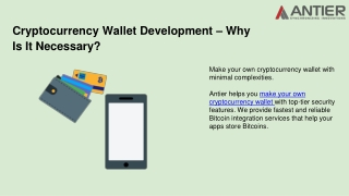 Make Your Own Cryptocurrency Wallet With Minimal Complexities