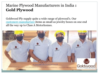 Marine Plywood Manufacturers in India : Goldwood Ply