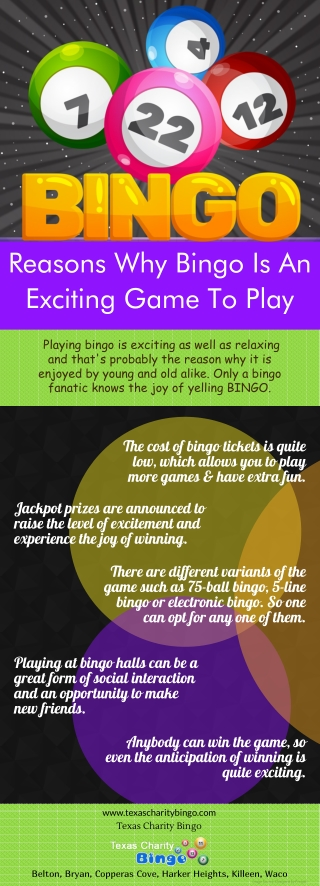 Reasons Why Bingo Is An Exciting Game To Play