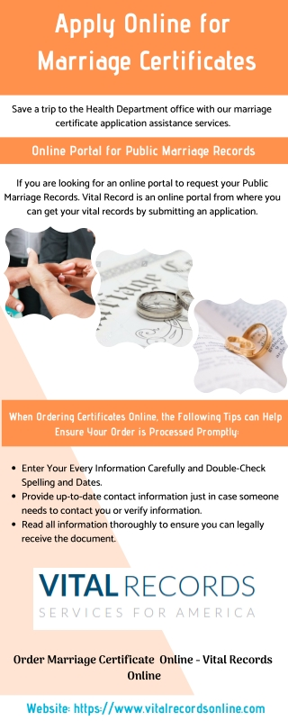 Apply Online for Marriage Certificates