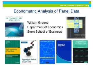 Econometric Analysis of Panel Data