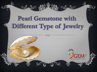 Pearl gemstone with different type of jewelery