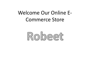 Welcome our online e commerce store