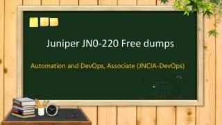 Juniper JNCIA-DevOps JN0-220 practice test