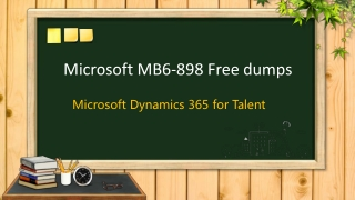 Microsoft MB6-898 exam dumps