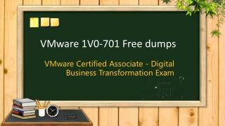 VMware VCA-DBT 1V0-701 braindumps