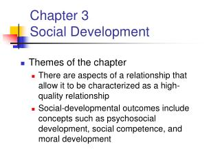 Chapter 3 Social Development