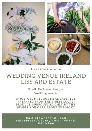Small | Exclusive | Unique Wedding venues Ireland