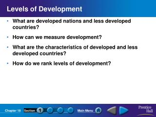 Levels of Development
