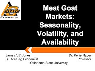 Meat Goat Markets: Seasonality, Volatility, and Availability