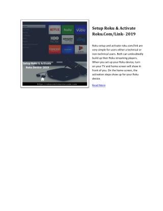 Activate Roku.Com/Link   Roku Activate Guide 2019