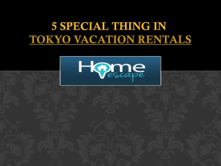 Tokyo Vacation Rentals