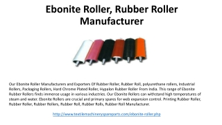 Ebonite Roller, Rubber Roller Manufacturer