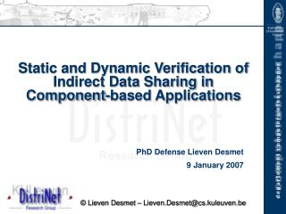 Static and Dynamic Verification of Indirect Data Sharing in Component-based Applications