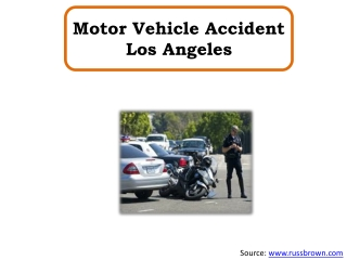 Motor Vehicle Accident Los Angeles