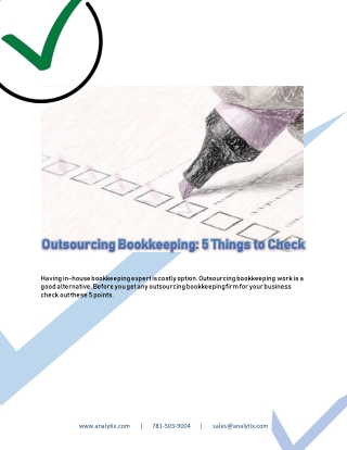 Outsourcing Bookkeeping - 5 Things to Check