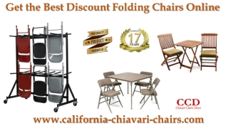 Get the Best Discount Folding Chairs Online