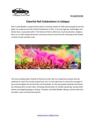 Cheerful Holi Celebrations in Udaipur