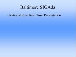 Baltimore SIGAda