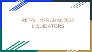 Merchandise Liquidation