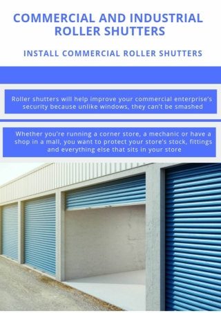 Commercial And Industrial Roller Shutters