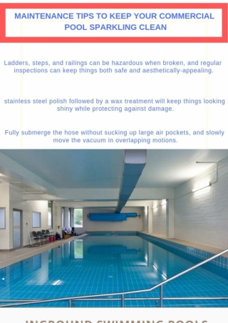 Maintenance tips with commercial pool builders