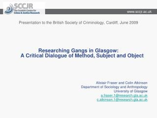 Presentation to the British Society of Criminology, Cardiff, June 2009
