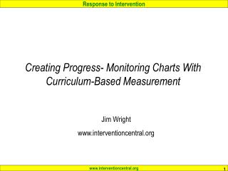 Creating Progress- Monitoring Charts With Curriculum-Based Measurement
