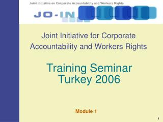 Joint Initiative for Corporate Accountability and Workers Rights
