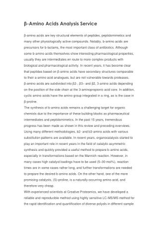 β-Amino Acids Analysis Service