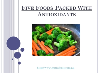 Five Foods Packed With Antioxidants