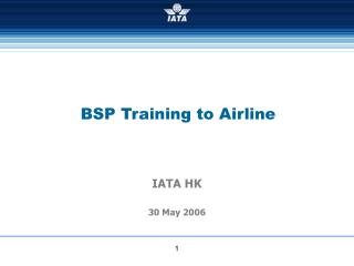 BSP Training to Airline