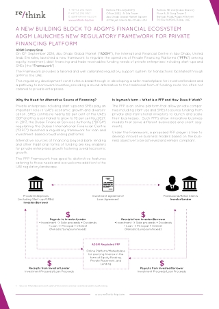 A New Building Block To Adgm's Financial Ecosystem Adgm Launches New Regulatory Framework For Private Financing Platform