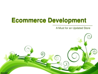 Continuous Ecommerce Development – A Must for an Updated Sto