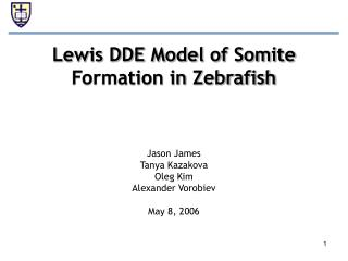 Lewis DDE Model of Somite Formation in Zebrafish