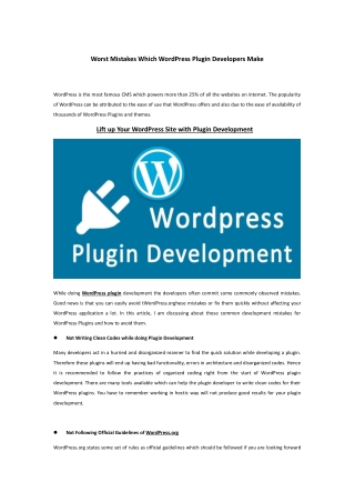 Most Common WordPress Plugin Development Mistakes and How to Avoid Them-converted